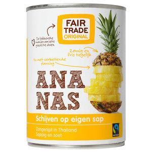 Fair trade Ananas schijven op sap