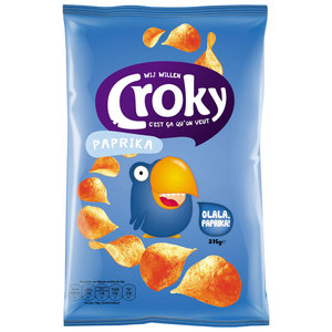 Croky Chips paprika.